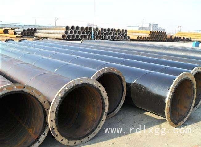 输水焊接法兰螺旋钢管.